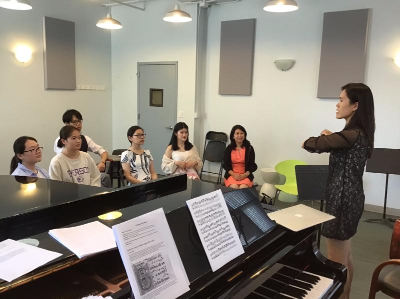 Ms. Wei Chen, Music teacher of NYU Shanghai.